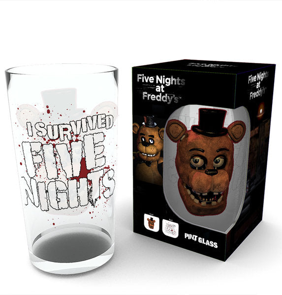 Five Nights at Freddy's Fazbear Large Glass