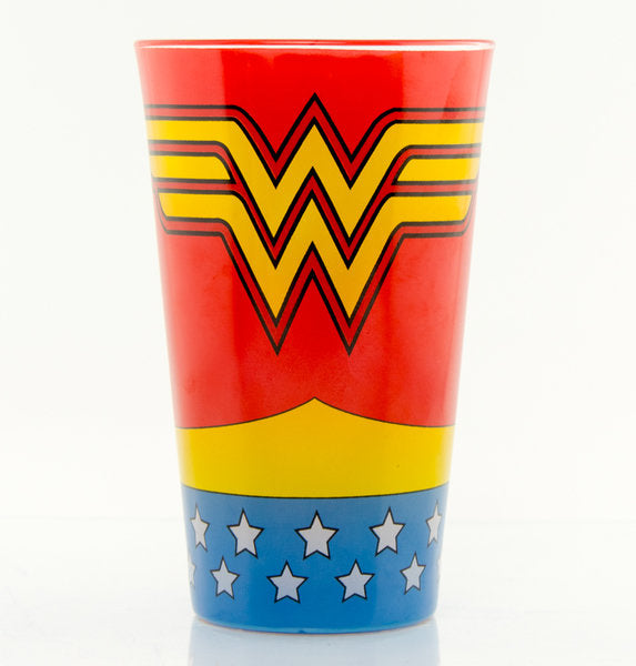 Wonder Woman Costume Large Premium Coloured Glass