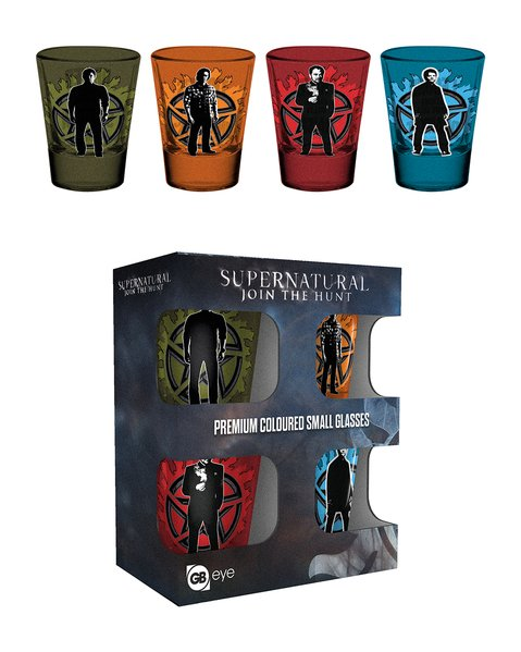 Supernatural Winchester Brothers Shot Glasses
