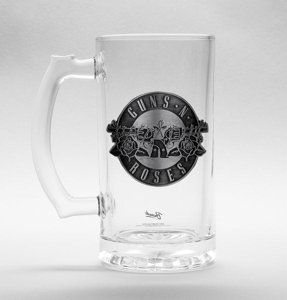 Guns N Roses Logo Stein Glass