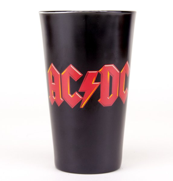 AC/DC Logo Canon Coloured Large Premium Coloured Glass
