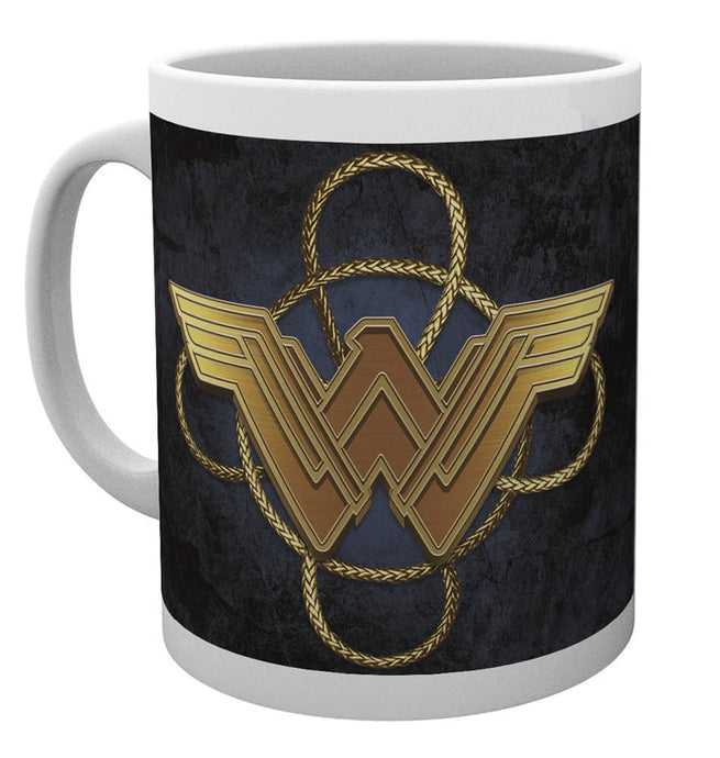 Wonder Woman Gold Logo Mug