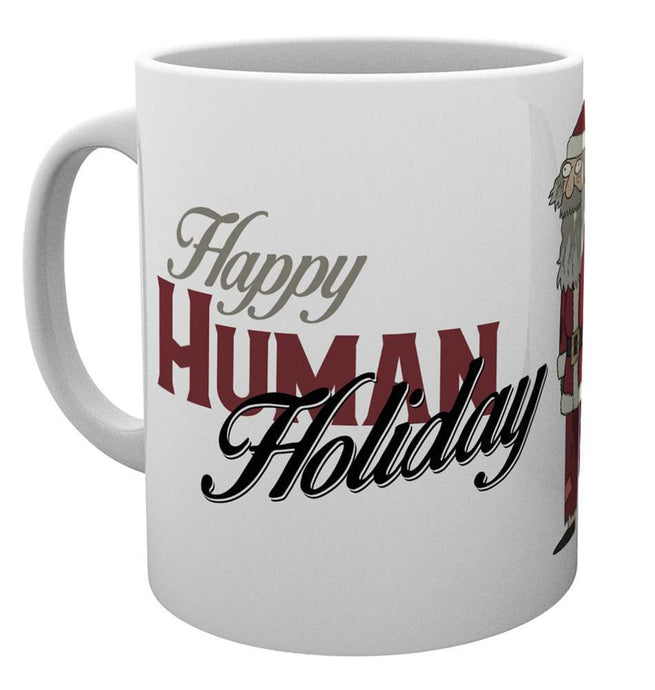 Rick and Morty Happy Human Holiday Christmas Mug Mug
