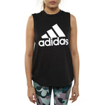 Adidas Must Haves Badge Of Sport Tank Top Womens Style : Du0003-BLACK/WHITE