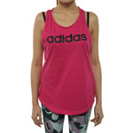 Adidas Essentials Linear Loose Tank Top Womens Style : Du0626-REAMAG/BLACK