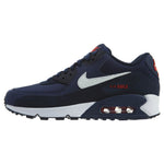 Nike Air Max 90 Essential Midnight Navy White Red Running Mens Style :AJ1285