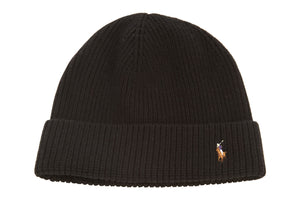 Polo Signature Cuff Wool Beanie Mens Style 604790