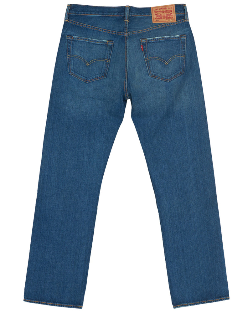 LEVIS MENS 501 STREIGHT LEG BUTTON FLY JEAN - STYLE # 501