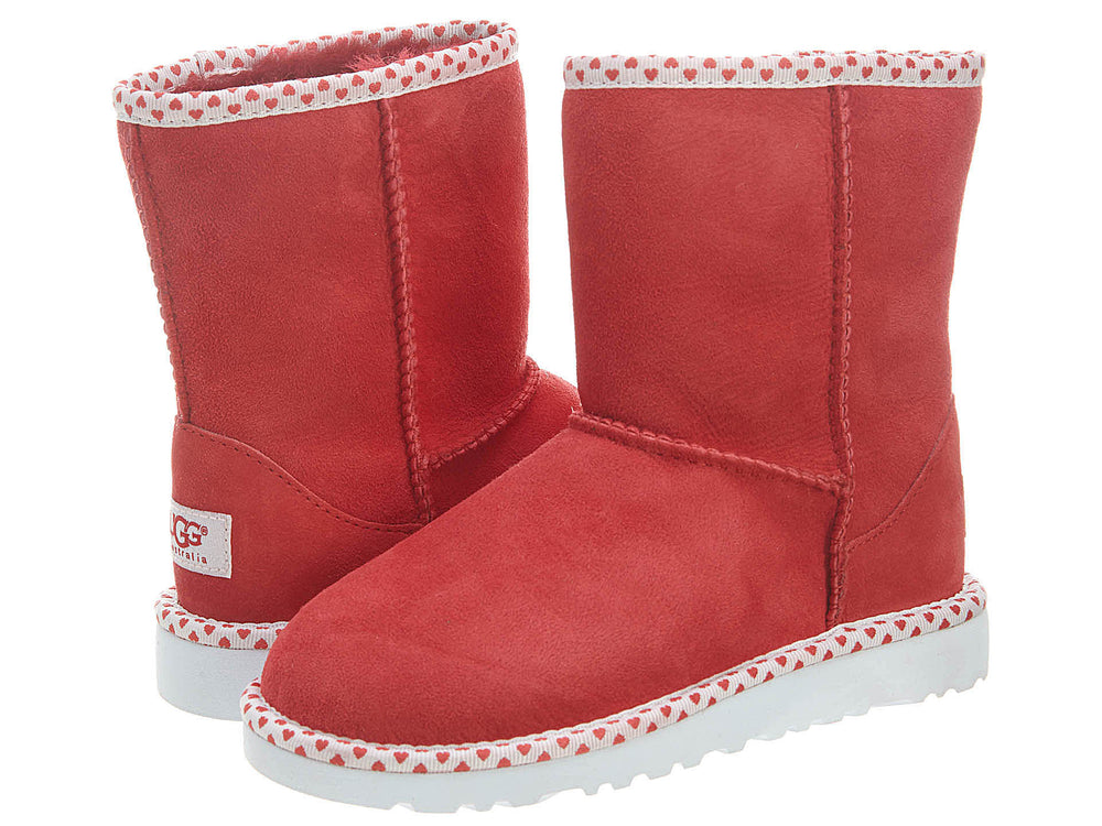 Ugg Classic Short Hearts Boots Little Kids Style : 1005295k