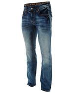Rock Revival Evan Alternative Straight Single Flap Stitch Jean Mens Style : Rj8879a16