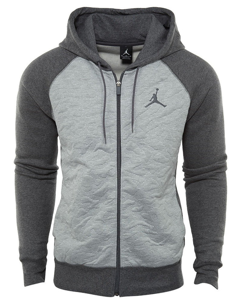Jordan 3 Fleece Full‑zip Hoodie Mens Style : 819125