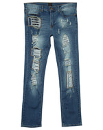 Ubuntu Revolution Rip And Tear Denim Jeans  Mens Style : 7119