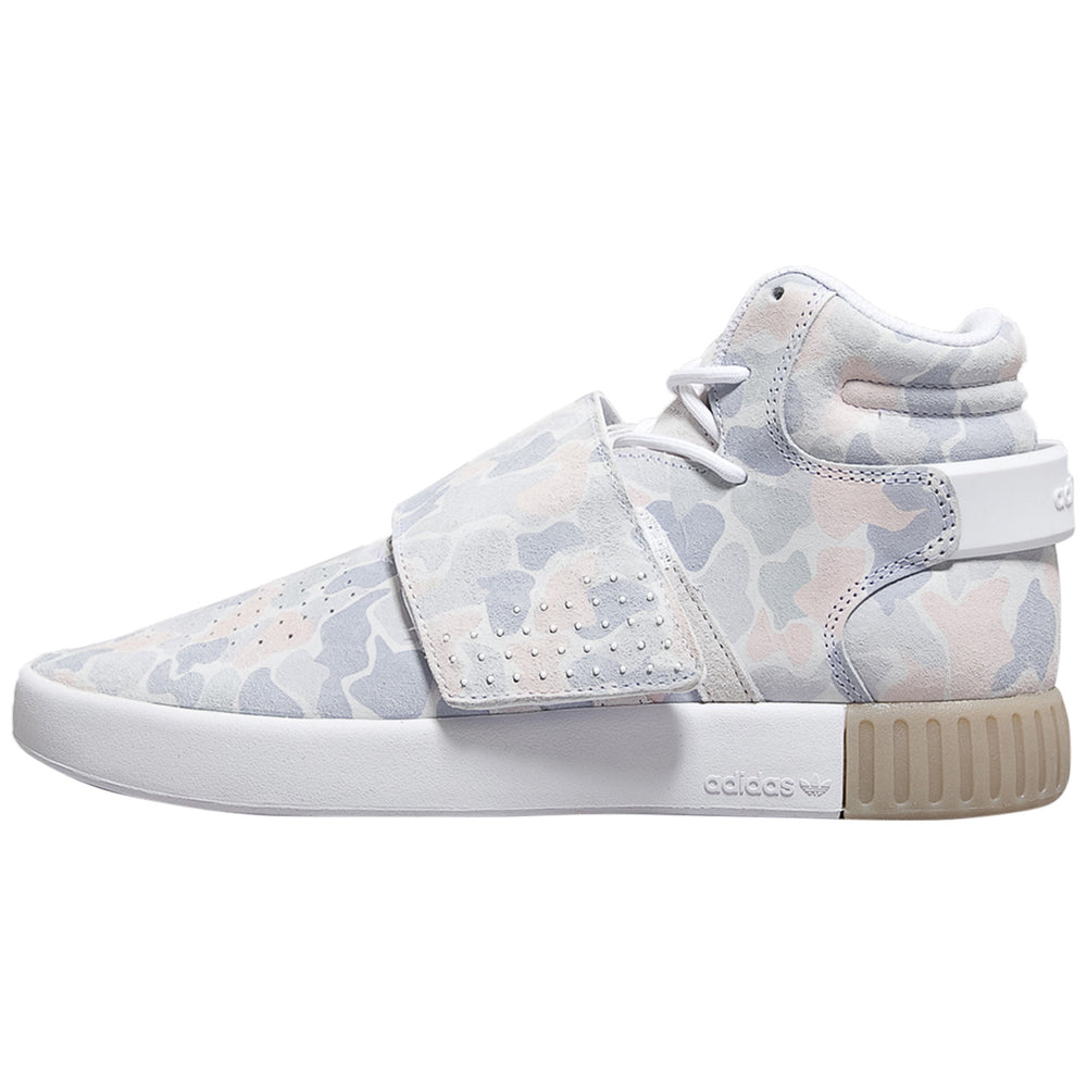 Adidas Tubular Invader Strap Camouflage Grey Pink  Mens Style :BB8394