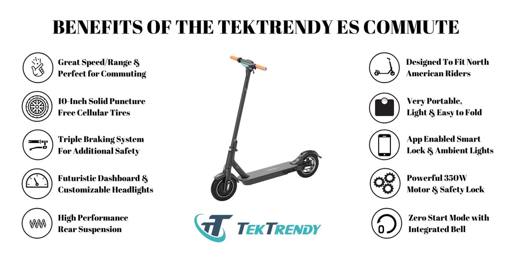 Benefits of ES Commute Electric Scooter | TekTrendy Canada