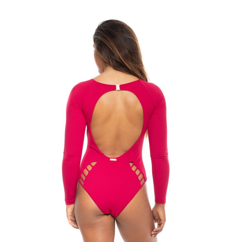 TBA Long-Sleeved One Piece - Ribbed