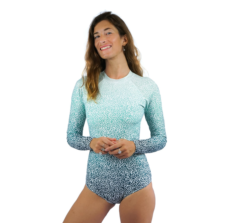 Flores Long-Sleeved One Piece