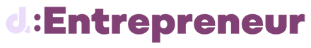 The campaign logo, showing the letter d in light grey followed by a colon and the word entrepreneur in purple