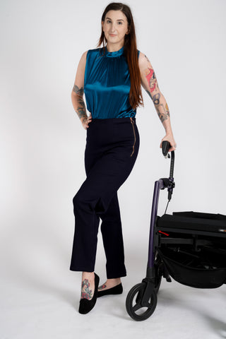 'Olympia-Strike' wheelchair jeans with pockets