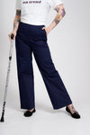'Kelly' wide-leg trousers with hidden side zip