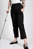 'Nicki' petite black trousers with side zips