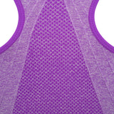 Front fastening sports bra in lilac