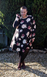 'Georgie' Dark Floral Plus Size Dress