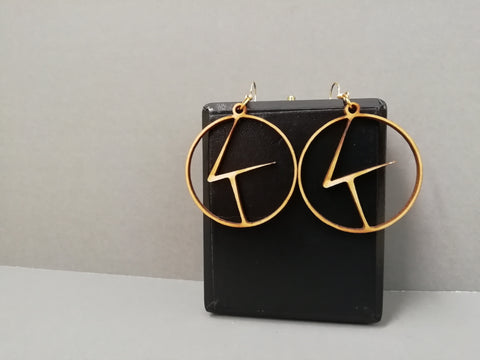 Kintsugi Logo Laser Cut Earrings