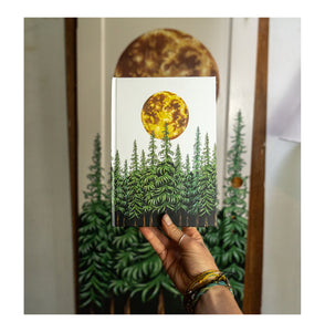 Moonlit Forest Hardcover Journal