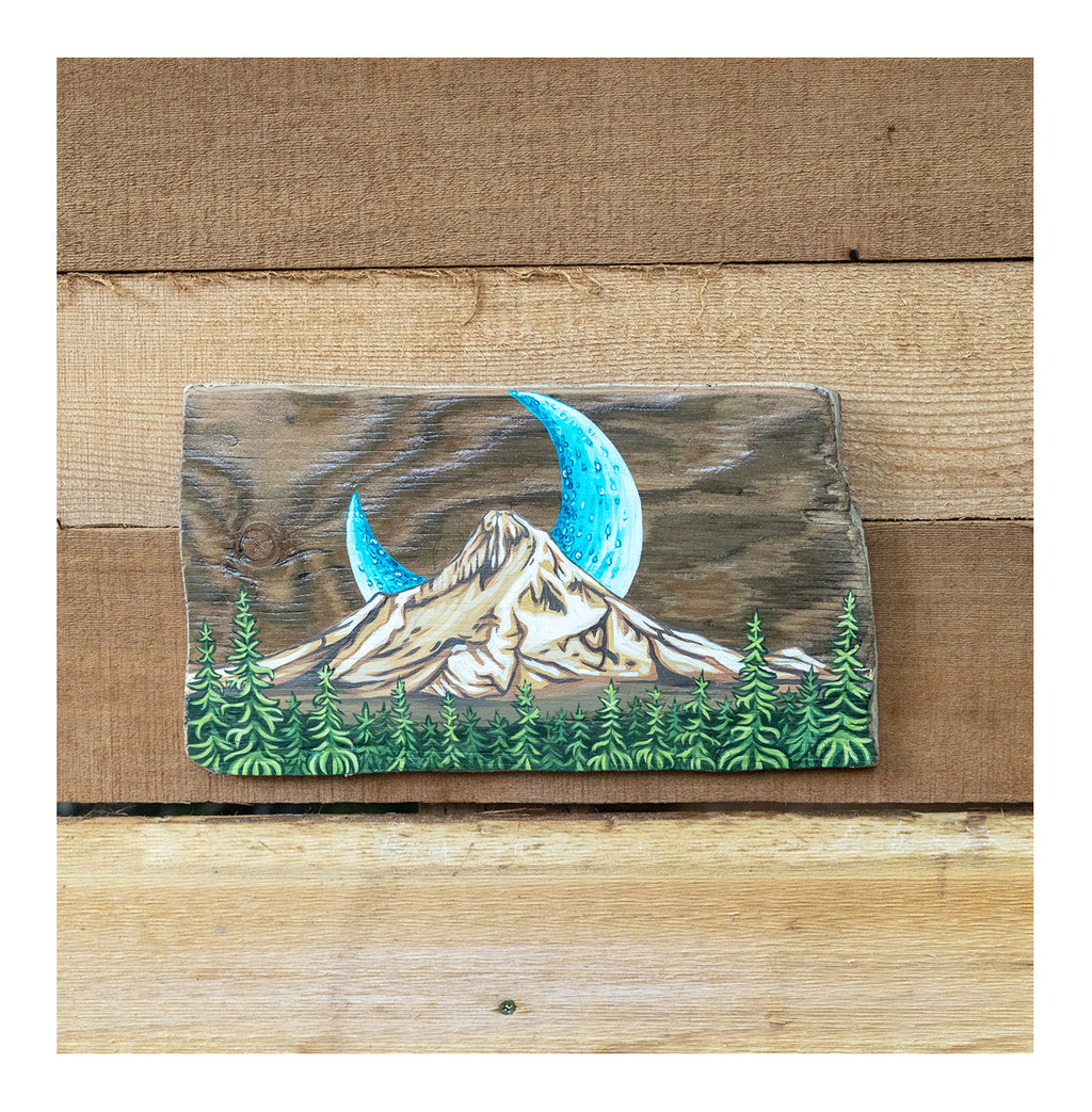 """Mount Hood Greenery"" Driftwood Original"