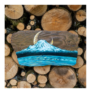 """Rainier Rising"" Driftwood Original"