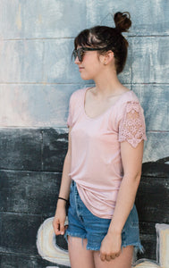 Hippie Chic Laced Flowing S/S Shirt