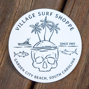 Village Skull Island Sticker