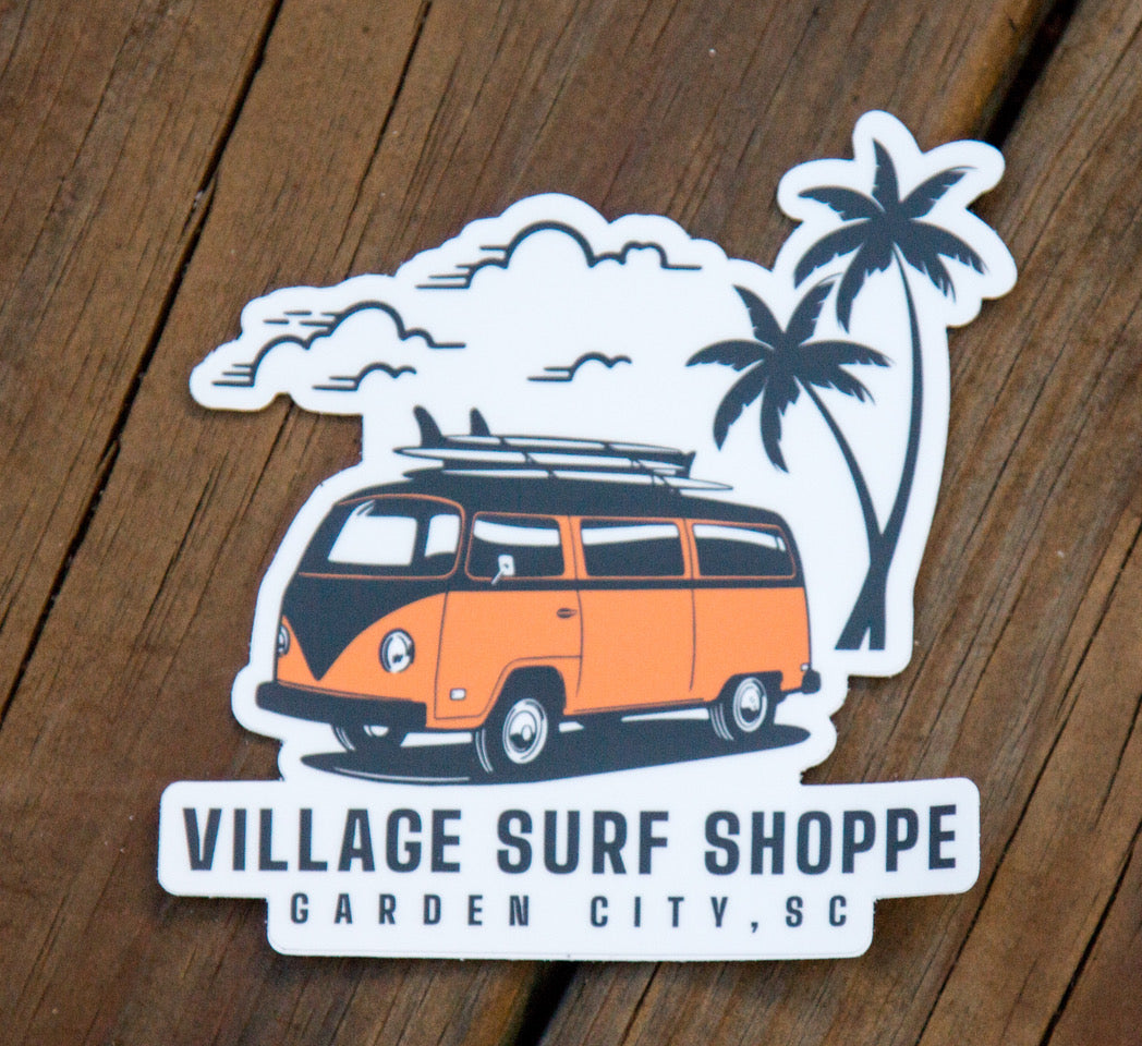 Village VW Paradise Sticker