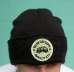 Village Dubbin solid black beanie