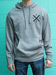 Grey Anchors Away pullover hoody