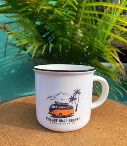 Village VW Paradise 13oz ceramic camping mug