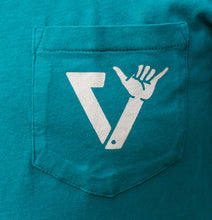 Load image into Gallery viewer, Village || Vissla 50 Years Of Stoke Teal Pocket Tee