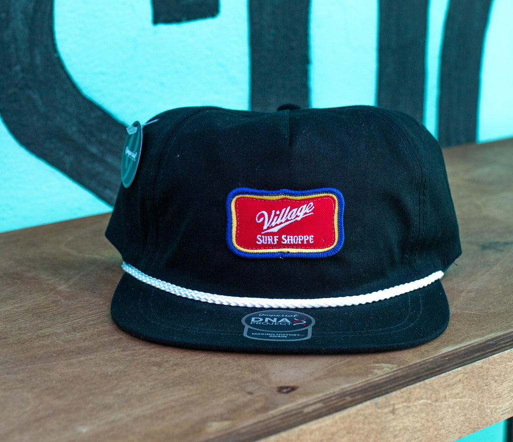 Cheers adjustable black rope hat