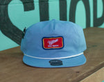 Cheers adjustable light blue rope hat
