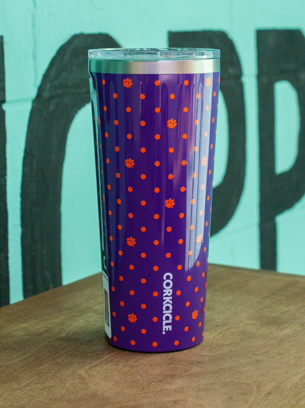 Clemson University 24oz Polka Dot Tumbler