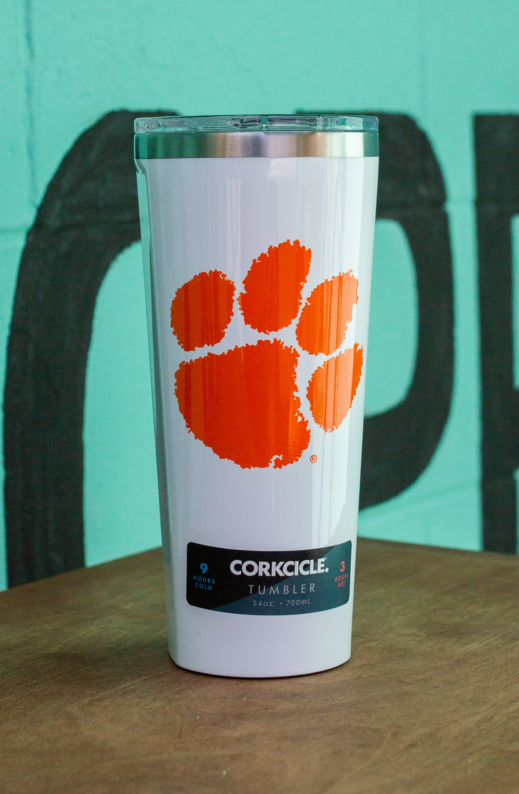 Clemson University 24 oz Corkcicle Tumbler