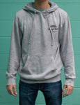 Dyed grey Sunrise pullover hoody