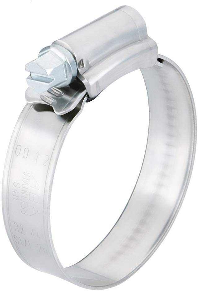 13624 ABA Scandvik Stainless Steel #8 Solid Band Hose Clamp SOLD EACH