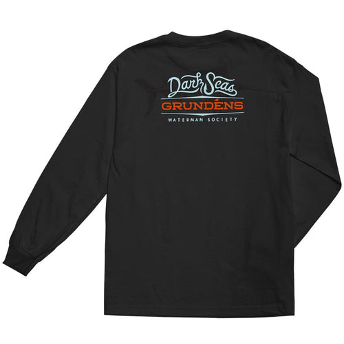 Dark Seas Grundens Deep Blue Long Sleeve Shirt