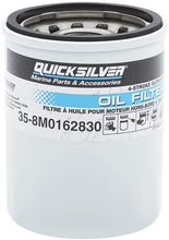 Load image into Gallery viewer, 35-8M0162830 Quicksilver Oil Filter - Mercury and Mariner 4-Stroke Outboards 25 HP Through 115 HP