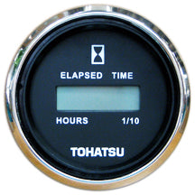 3GF725240M Tohatsu Black Faced Digital Hour Meter 3GF-72524-0