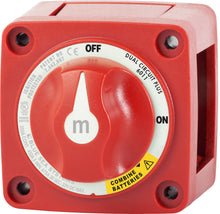 Load image into Gallery viewer, 6011 Blue Sea m-Series Mini Dual Circuit Plus™ Battery Switch - Red