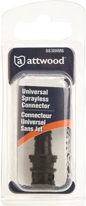 8838HM6 Attwood Universal Sprayless Connector Male Hose Fitting