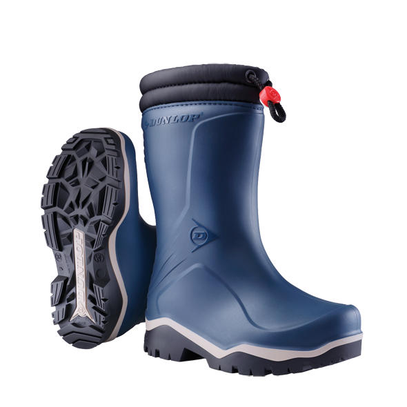 Dunlop Kids Blue/Black Blizzard Boots #K354061