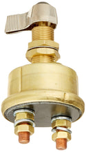 Load image into Gallery viewer, M-284-01BP Cole Hersee (A Little Fuse Brand) Single Pole Brass Body Marine Battery Switch